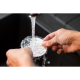 Clean the DROPSAVER wine pourer by hand under running water.